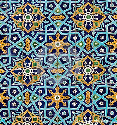 orientalisches muster auf fliesen lizenzfreie stockbilder bild 20910569. Black Bedroom Furniture Sets. Home Design Ideas