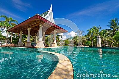 Orientalisk semesterort i Thailand