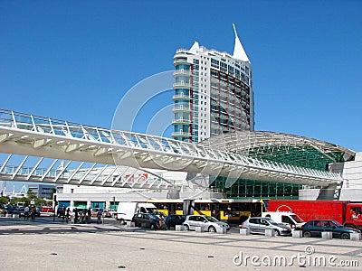 Oriente station, Lisbon Editorial Photo
