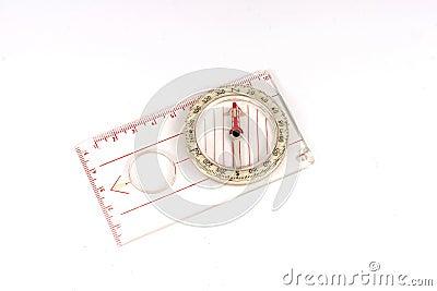 Orienteering compass isolated.