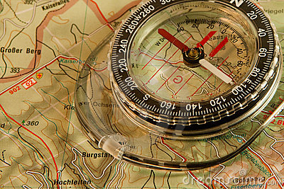 Orienteering: map and compass