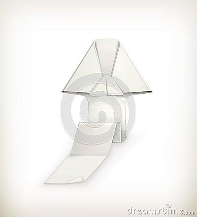 Origami arrow