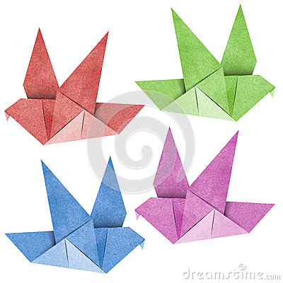 Origami Bird  Recycled Papercraft