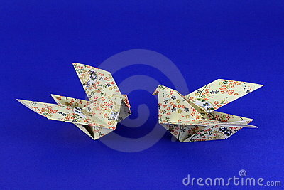 Pair of Paper Origami Doves