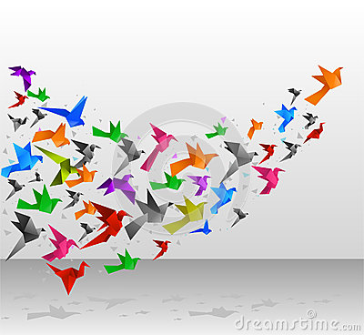 Free Origami Birds Flight Stock Photos - 47003943