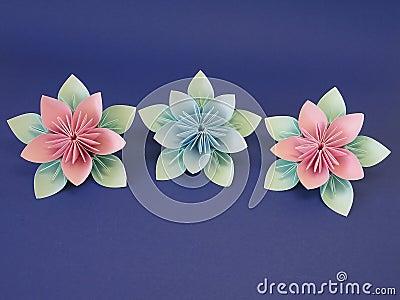 origami blumen stockbilder bild 13132214. Black Bedroom Furniture Sets. Home Design Ideas