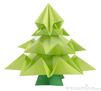 Free Origami Christmas Tree Royalty Free Stock Photography - 20659297