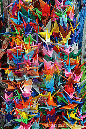 Free Origami Cranes Royalty Free Stock Images - 67719