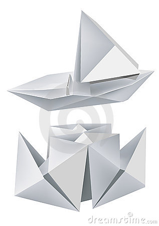 origami de bateaux photographie stock image 8559432. Black Bedroom Furniture Sets. Home Design Ideas