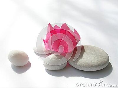 origami de fleur de lotus cailloux photos stock image 5338623. Black Bedroom Furniture Sets. Home Design Ideas