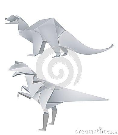 Origami Dinosaur Models
