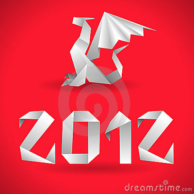 Origami Dragon with 2012 Year