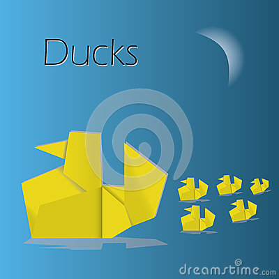 Origami ducks eps10