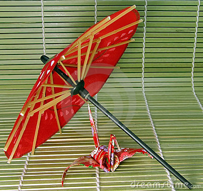 Origami e guarda-chuva japonês 2