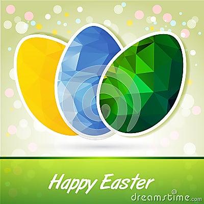Origami eggs Easter