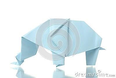 origami elefant stockbilder bild 22935804. Black Bedroom Furniture Sets. Home Design Ideas