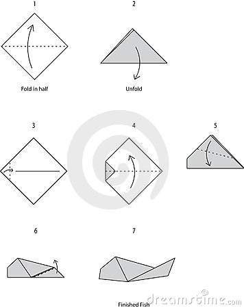 Paper Fish Origami Kids Crafts How To Fold Fish Origami