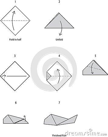 Origami Fish: Easy Folding Instructions | 450x356