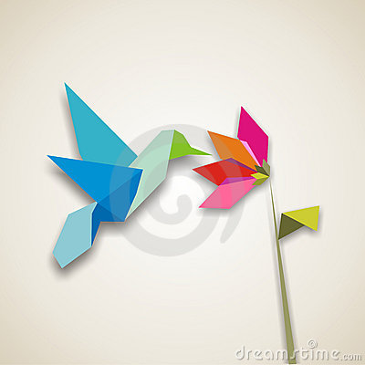 Free Origami Hummingbird Royalty Free Stock Photos - 8596538
