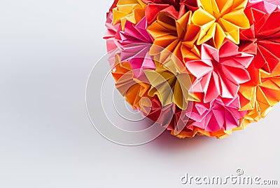 origami kusudama blume lizenzfreie stockbilder bild 16137189. Black Bedroom Furniture Sets. Home Design Ideas