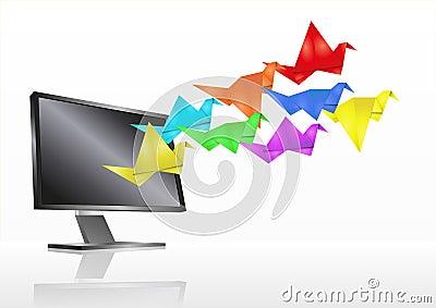 Origami monitor