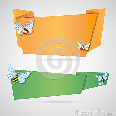 Origami notepaper folded note sheets