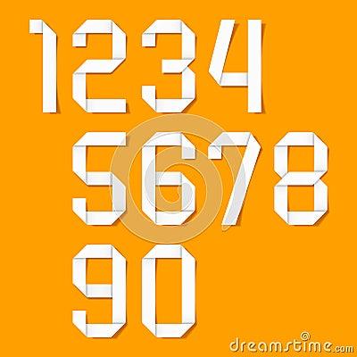Origami numbers set