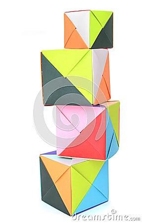 Origami paper blocks