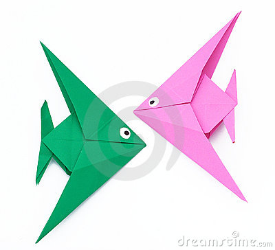 Free Origami Paper Fish Royalty Free Stock Image - 19462716