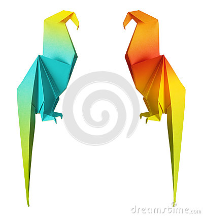 Free Origami Parrot Stock Images - 29870344