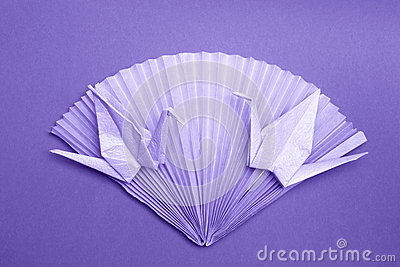 Origami Photo Card - Paper Cranes Fan Stock Photos