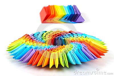 Rainbow Wave Patterned Origami Paper - AsianFoodGrocer.com