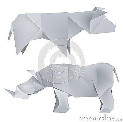 Origami_rhino_cow