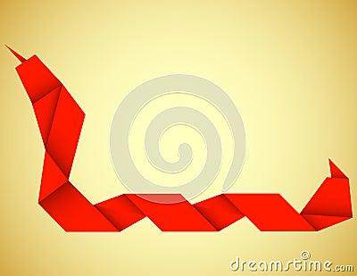 Origami Snake Background