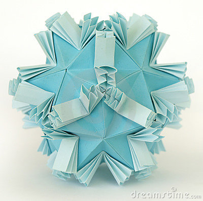 origami snow royalty free stock photos image 17166468