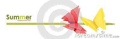 Origami summer butterflies