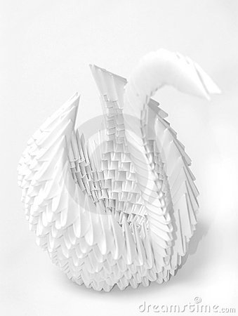 Free Origami Swan Royalty Free Stock Photos - 2394848