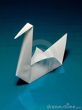 origami swan folding instructions