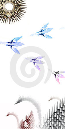 Free Origami Swans Royalty Free Stock Photos - 298428