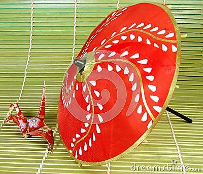 Origami and umbrella