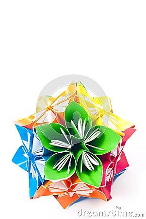 Origami unit flowers