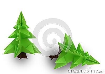 origami weihnachtsbaum stockbilder bild 26968584. Black Bedroom Furniture Sets. Home Design Ideas