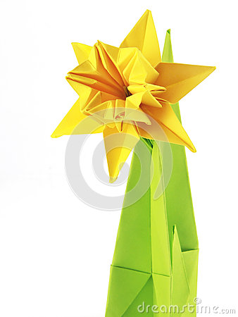 Free Origami Yellow Narcissus Stock Photos - 29491473