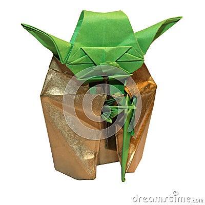Free Origami Yoda Jedi Royalty Free Stock Photo - 67042365