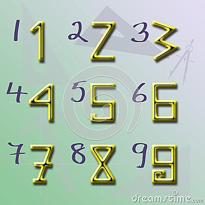 Arabische Zahlen Winkel
