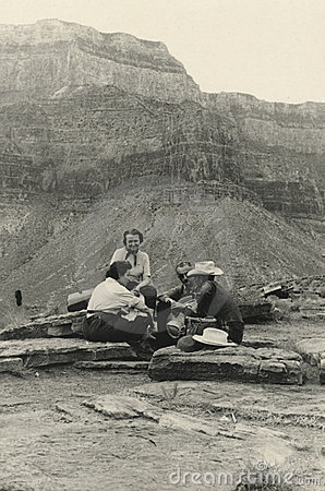 Original 1940 antique photo - grand canyon