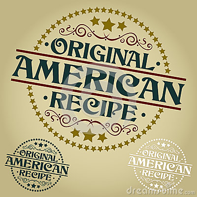 Original American Recipe Seal / Badge