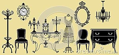Original antique furniture collection