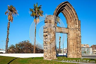 Original arc gate of the Carmelite Convent of Barcelona