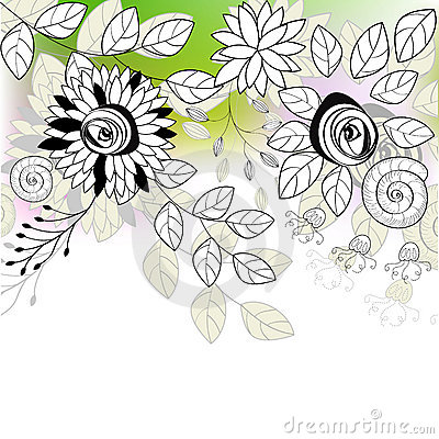 Original background with flowers